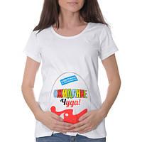 """Футболки для вагітних, для фотосесії, подарунок дружині, жіноча футболка """"в Очікуванні дива"""""""