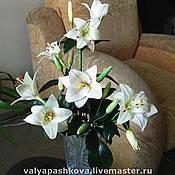 Флористическая композиция: «Лилии цветут…». Холодный фарфор. Мастер: Пашкова В., фото 1