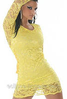 Желтый кружевной пеньюар, фото 1