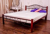 Кровать двуспальная металлическая Лара Люкс Вуд