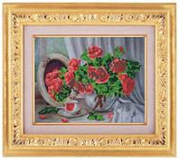 Схема для частичной вышивки бисером «Розы у зеркала» ВШ,248х305,Габардин,Арт.ЧБ-76 /00-02