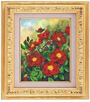 Схема для частичной вышивки бисером «Цветы красные» ВШ,248х305,Габардин,Арт.ЧБ-86 /00-02