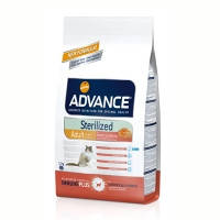 Advance (Эдванс) Cat Sterilized корм для стерилизованных кошек c лососем и пшеницей 10кг