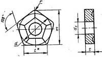Пластина твердосплавная 10114-110408 Т5К10(пятигранная)