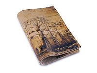 Кожаная обложка на паспорт  Старинная карта