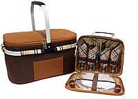 Набор для пикника на 4 персоны Time Eco в комплекте с изотермической сумкой 32л
