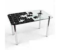 Стеклянный стол Пазл S-2 (Бц-Стол ТМ)