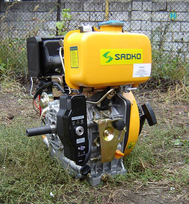 Sadko DE-300e дизельный двигатель для мотоблока с электрическим стартером фото 10