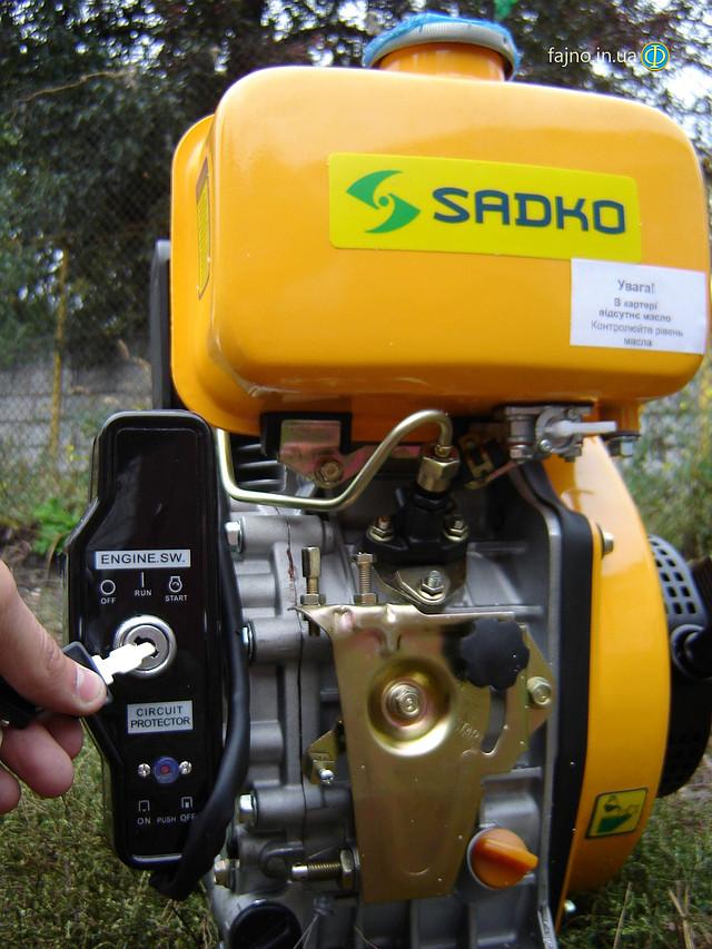 Sadko DE-300e дизельный двигатель для мотоблока с электрическим стартером фото 11