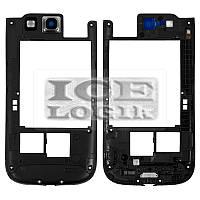 Средняя часть корпуса для мобильного телефона Samsung I9300 Galaxy S3, черная