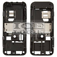 Средняя часть корпуса для мобильных телефонов Nokia 6120c, 6121c, черная, полная