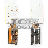 Клавиатурный модуль для мобильного телефона Nokia X3-02, с коннектором SIM-карты, с коннектором карт