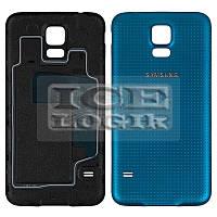 Задняя крышка батареи для мобильного телефона Samsung G900H Galaxy S5, синяя