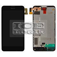 Дисплей для мобильных телефонов Nokia 630 Lumia Dual Sim, 635 Lumia, черный, с рамкой, с сенсорным э
