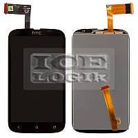 Дисплей для мобильного телефона HTC T328w Desire V, черный, с сенсорным экраном
