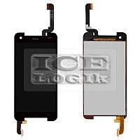Дисплей для мобильных телефонов HTC 901e Butterfly S, 901s Butterfly S, черный, с сенсорным экраном