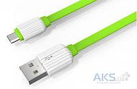 Кабель USB LDNio Micro USB flat 2.1A Green (LS05)