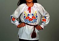 """Детская вышитая блуза для девочки. Вышиванка, """"Васильки"""""""