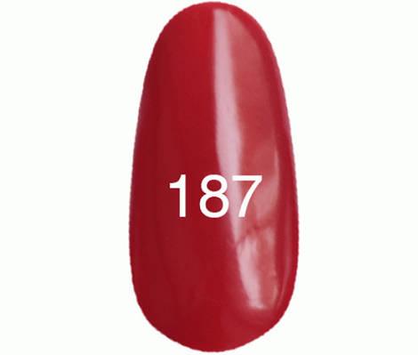Kodi Professional Гель лак №187 Карминово-красный, эмаль  8мл