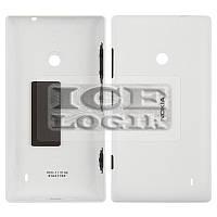 Задняя панель корпуса для мобильных телефонов Nokia 520 Lumia, 525 Lumia, белая, с боковыми кнопками