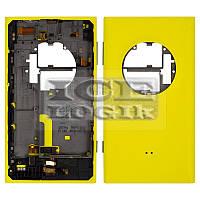 Задняя панель корпуса для мобильного телефона Nokia 1020 Lumia, желтая, с боковыми кнопками, полная