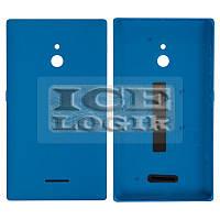 Задняя панель корпуса для мобильного телефона Nokia XL Dual Sim, голубая, с боковыми кнопками