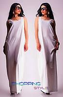 Белое романтическое свободное платье в пол