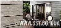 Фасадные панели, текстура дерева, цвет серебристо серый (Производство Польша)