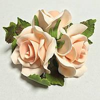 """Букет """"Розы персиковые"""" d160 3шт. (код 03899)"""