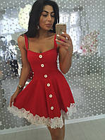 Женское милое платье с кружевом (2 цвета)