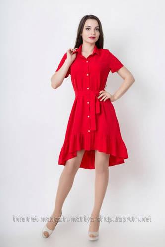 Платье женское норма с воротником
