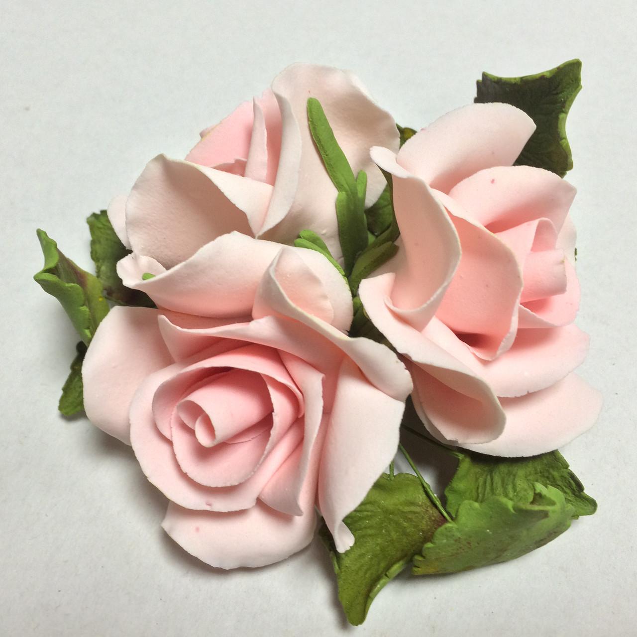 """Букет """"Розы светло-красные"""" d160 3шт. Украса - 03901"""