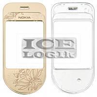 Стекло корпуса для мобильного телефона Nokia 7370, золотистое