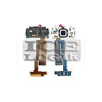 Шлейф для мобильного телефона Nokia N85, межплатный, с компонентами, с верхним клавиатурным модулем,