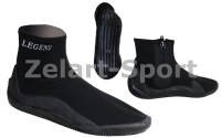 Ботинки для дайвинга LEGEND PL-DNS10 (неопрен, резина,р-р M-XXL,RUS 40-45,черный)