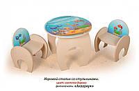 Игровой столик Аквариум с двумя стульчиками (ТМ Вальтер)