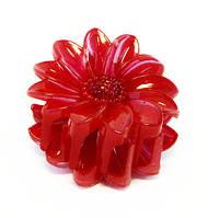 Заколка для волос Цветок крабик пластик-12 шт.- 5,8 см.