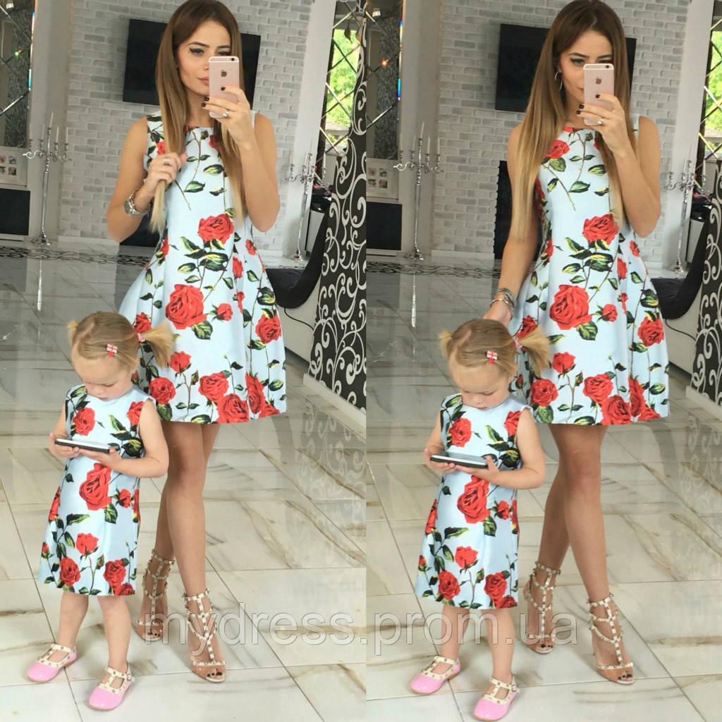 Family look платья мама и дочка купить