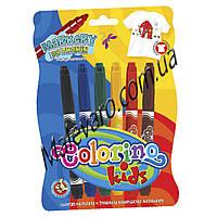 Маркеры для рисования по ткани, 6 цветов