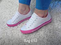 Кеды белые в стиле Converse, фото 1