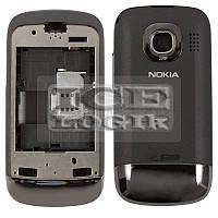 Корпус для мобильного телефона Nokia C2-02, high-copy, черный