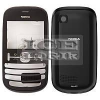 Корпус для мобильного телефона Nokia 201 Asha, high-copy, черный