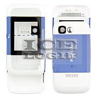 Корпус для мобильного телефона Nokia 5200, high-copy, синий, передняя и задняя панель