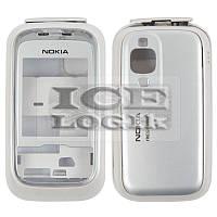 Корпус для мобильного телефона Nokia 6111, high-copy, серебристый