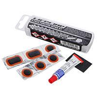 Набор латок + клей LifeLine Puncture Repair Kit, вело-аптечка, ремнабор