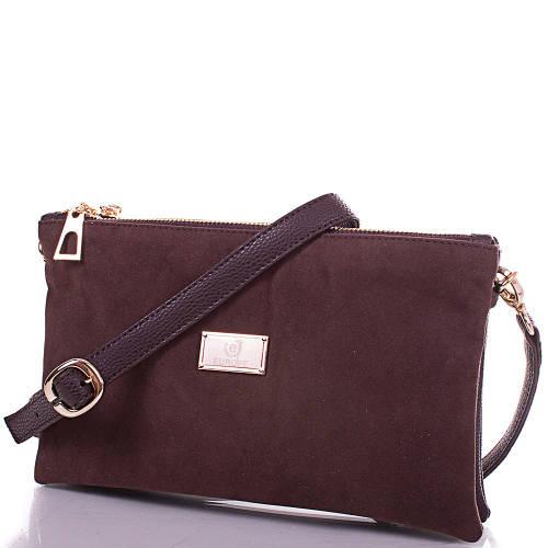 Женская сумка-клатч из экокожи и натуральной замши EUROPE MOB (ЮЭРОП МОБ) EM2-010 Коричневая