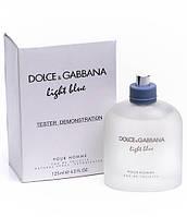 Dolce & Gabbana Light Blue мужская туалетная вода (Дольче Габбана Лайт Блю пур Хом)125ml (тестер без крышечки)