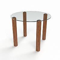 Стол кухонный стеклянный Круглый прозрачный 70х70 *Эко (БЦ-стол ТМ)