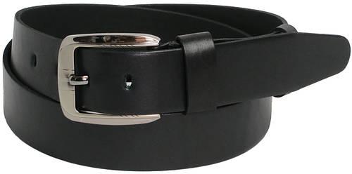 Мужской кожаный ремень под джинсы FLX 2557 чёрный ДхШ: 128х4 см.