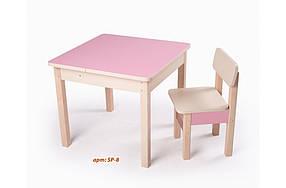 Стол-парта SP-8 Венге светлый/Розовый глянец (ТМ Вальтер)